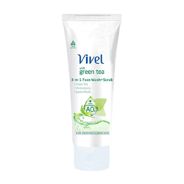 Vivel Green Tea 3 In 1 Face Wash 50 Ml
