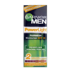 Garnier Men Power Light Fairness Moisturiser Spf 15
