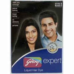 Godrej Expert Liquid Hair Dye Natural Black 1 40 Ml