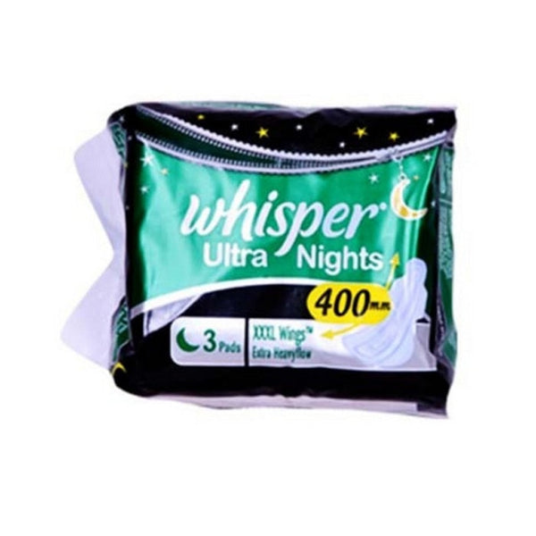 Whisper Ultra Nights XXXL Wings Extra Heavyflow 3 Pads