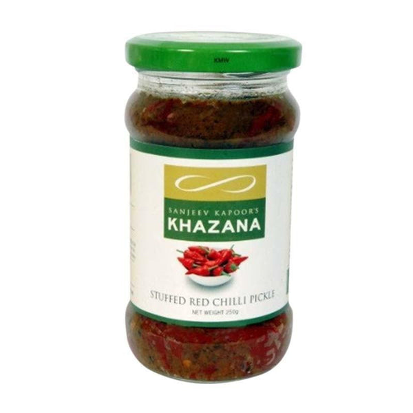 Sanjeev Kapoor Khazana Pickle Stuffed Red Chilli