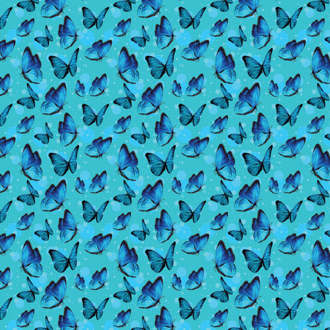 Aqua Butterflies Printed Vinyl - Craft Vinyl