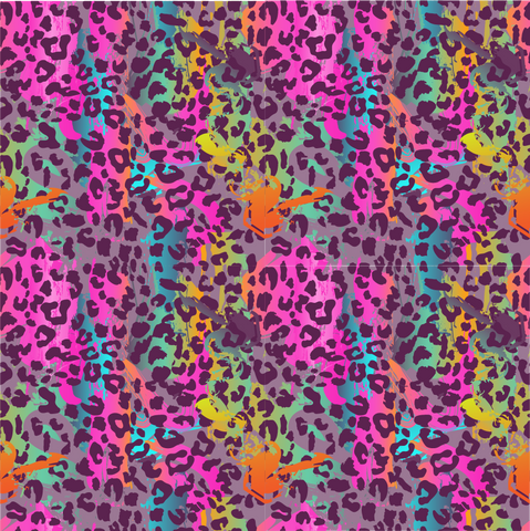 Abstract Leopard Pattern Printed Vinyl