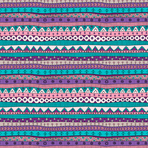 Abstract Tribal Teal & Purple Patterned Craft Vinyl