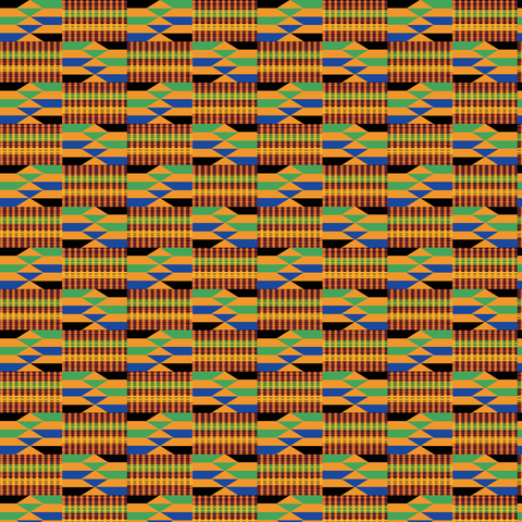 African Kente Cloth Patterned Vinyl - Craft Vinyl - Printed 651 Adhesive or Heat Transfer HTV