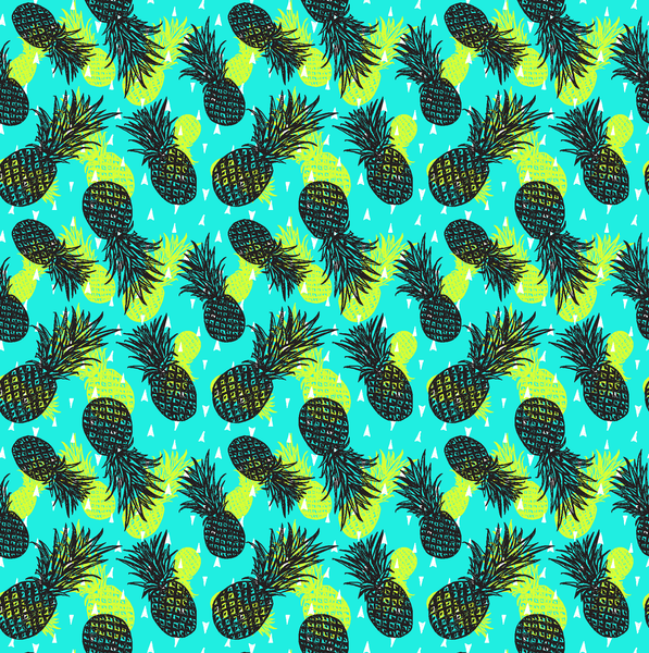 Teal & Lime Pineapple Patterned Vinyl - Craft Vinyl - Printed Adhesive 651 and Heat Transfer HTV