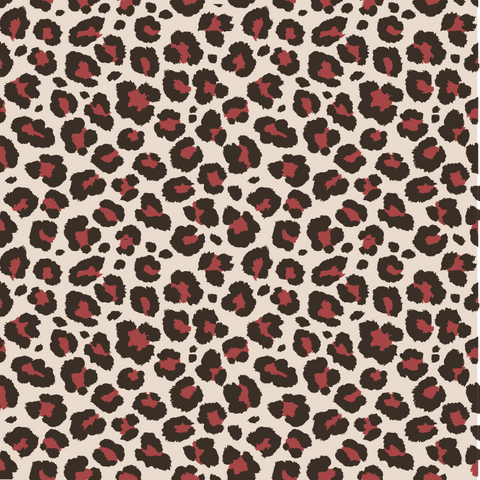 Pink and Brown Leopard Pattern Printed Vinyl