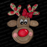 Reindeer HTV Transfer  - Pre-Cut Heat Transfer Decal