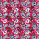 Bright Pink Paisley Patterned Vinyl - Craft Vinyl - Printed Adhesive 651 and Heat Transfer HTV