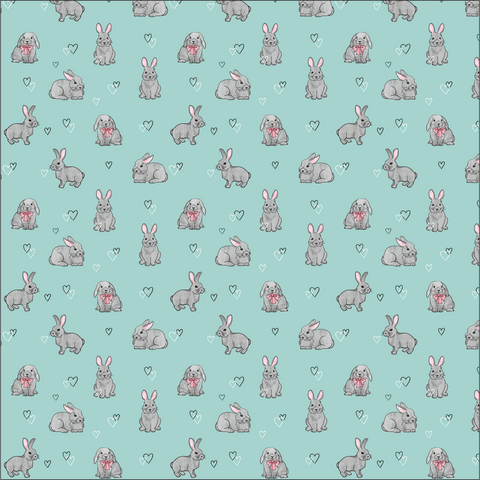 Bunnies & Hearts Printed Vinyl