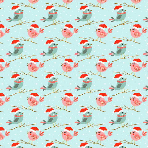 Christmas Birds Printed Craft Vinyl