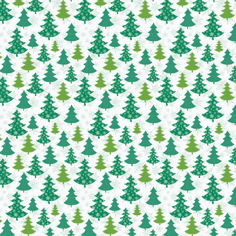 Christmas Tree Forest Patterned Vinyl