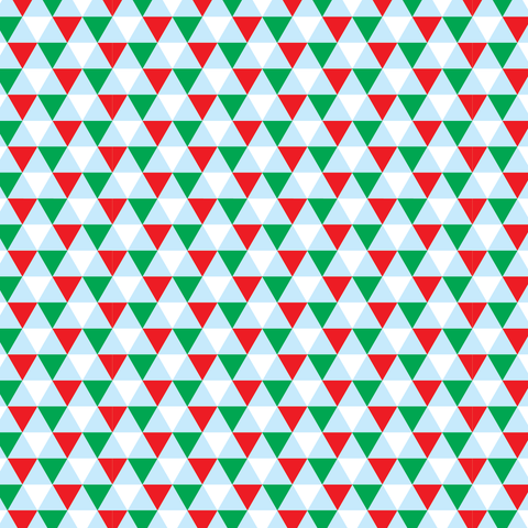 Christmas Triangles Geometric Patterned Vinyl