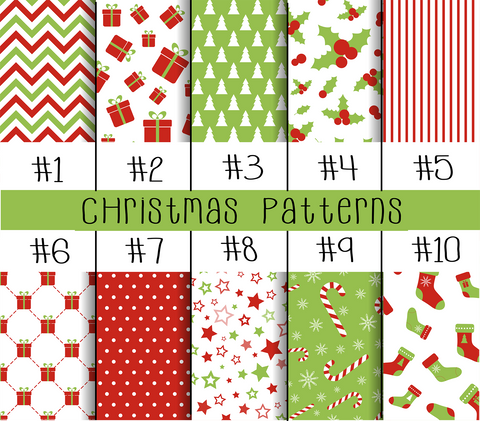 Christmas Patterned Vinyl - Choose Your Pattern