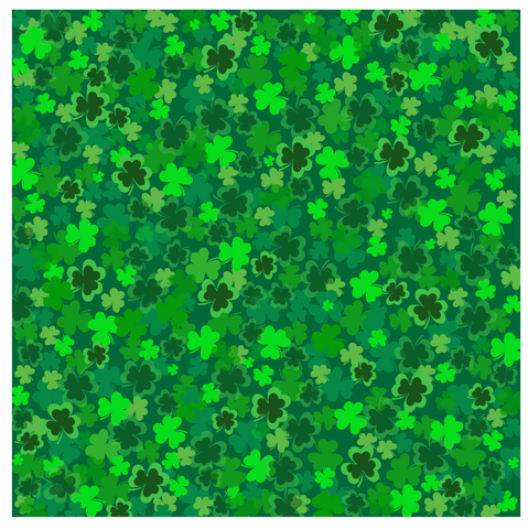 Shamrock Patterned Craft Vinyl