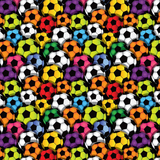 Colorful Soccer Balls Patterned Vinyl - Craft Vinyl