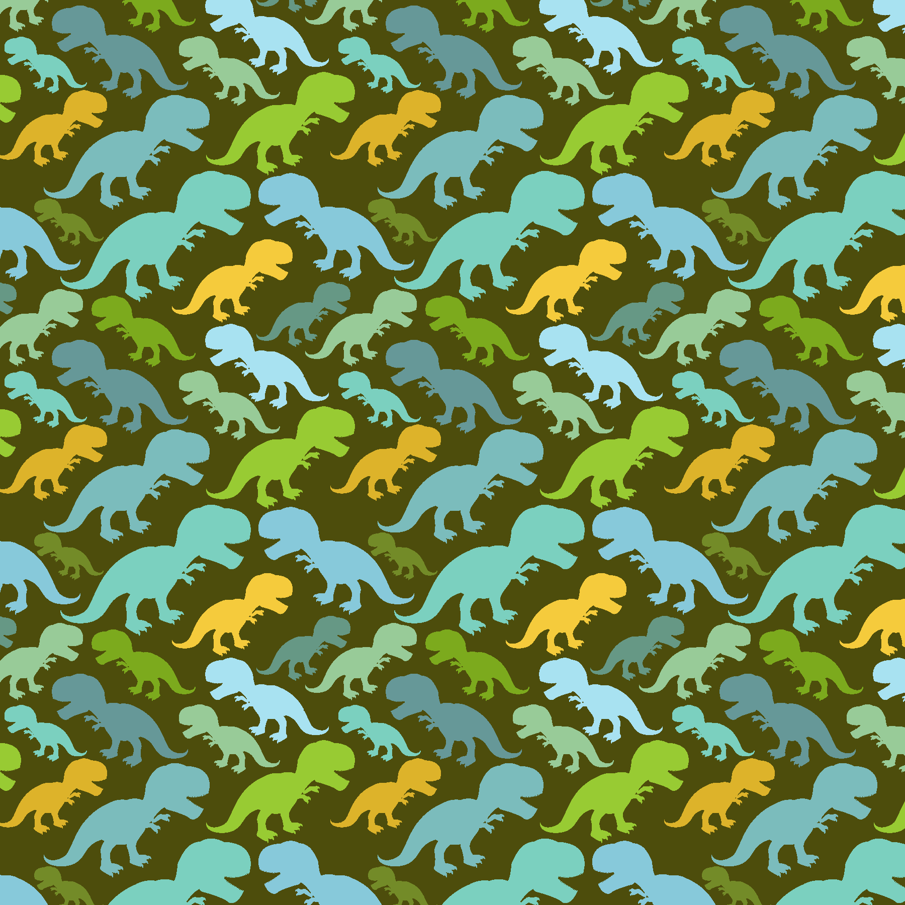 Dino Roar Dinosaur Patterned Vinyl - Craft Vinyl - Printed Adhesive 651 and Heat Transfer HTV