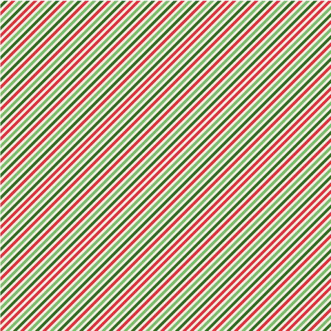Festive Stripes Printed Vinyl - Craft Vinyl