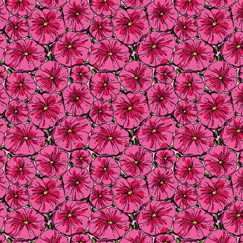 Fuchsia Floral Patterned Vinyl - Craft Vinyl - Printed Adhesive 651 and Heat Transfer HTV
