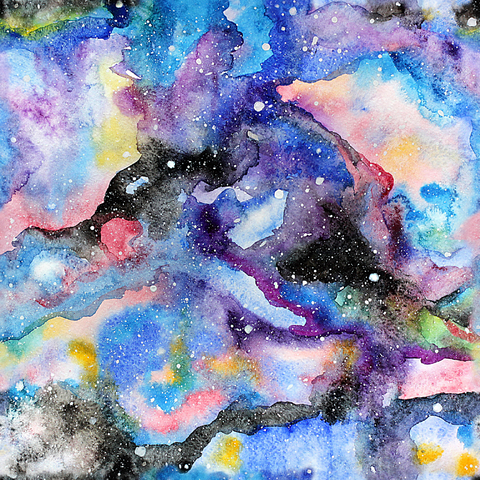 Galaxy Watercolor Printed Craft Vinyl