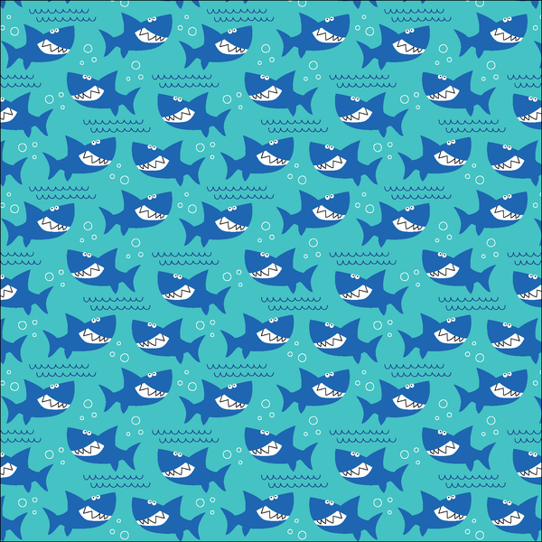 Happy Sharks Patterned Vinyl - Craft Vinyl