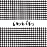 Black Houndstooth Pattern Printed Vinyl