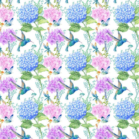Hummingbird And Hydrangea Printed Craft Vinyl 651 And Htv