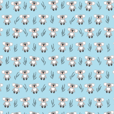 Koala Bears Patterned Vinyl - Craft Vinyl - Printed 651 Adhesive or Heat Transfer HTV