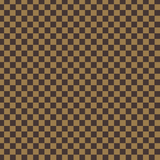 Designer Inspired Brown and Tan Checkered Printed Vinyl