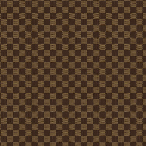 Designer Inspired Tan Checkered Fabric Textured Printed Vinyl