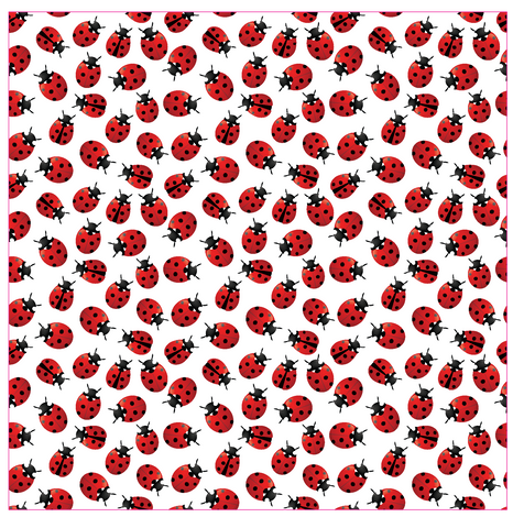 Ladybugs Patterned Vinyl - Craft Vinyl - Printed Adhesive 651 and Heat Transfer HTV