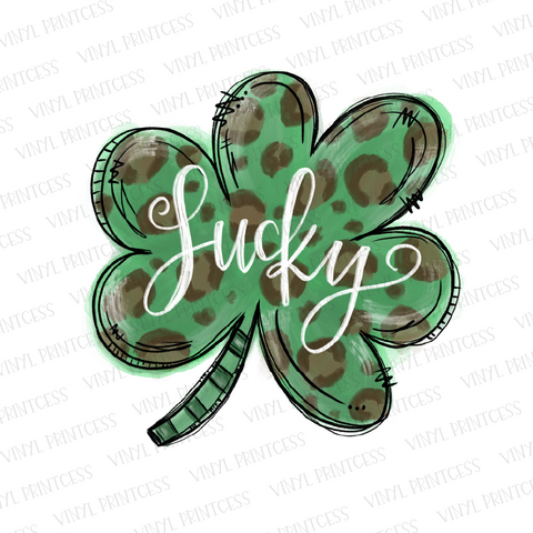 St. Patrick's Day Lucky Shamrock - Pre-Cut Heat Transfer Decal