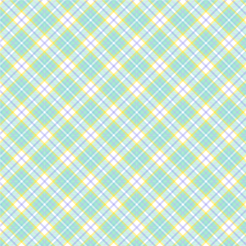 Mint Plaid Printed Vinyl
