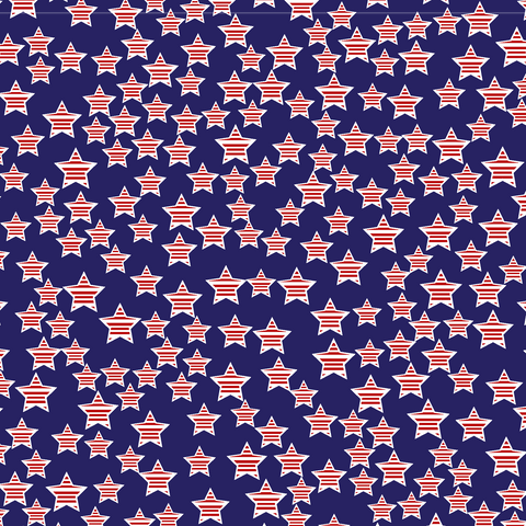 Navy Stars With Stripes Patterned Vinyl - Craft Vinyl - Printed Adhesive 651 and Heat Transfer HTV