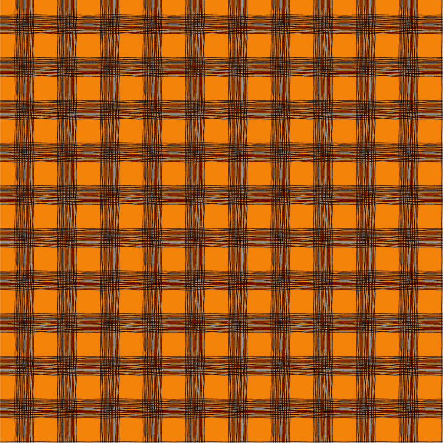 Orange Plaid Printed Craft Vinyl