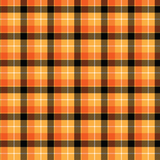 Orange, Yellow and Black Plaid Printed Vinyl
