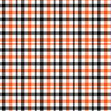 Orange and Black Flannel Plaid Printed Vinyl