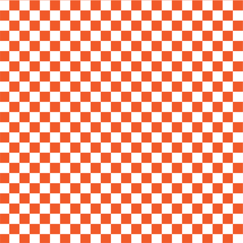Orange and White Checkered Printed Vinyl