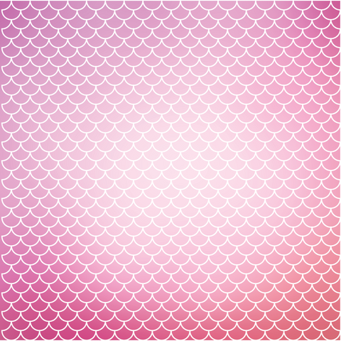 Mermaid Scales - Pink Ombre Printed Craft Vinyl
