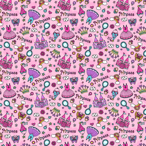 Pink Princess Patterned Printed Vinyl