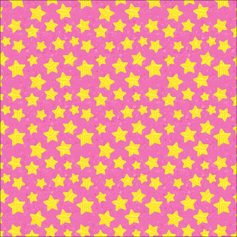Pink & Yellow Stars Patterned Vinyl - Craft Vinyl - Printed Adhesive 651 and Heat Transfer HTV