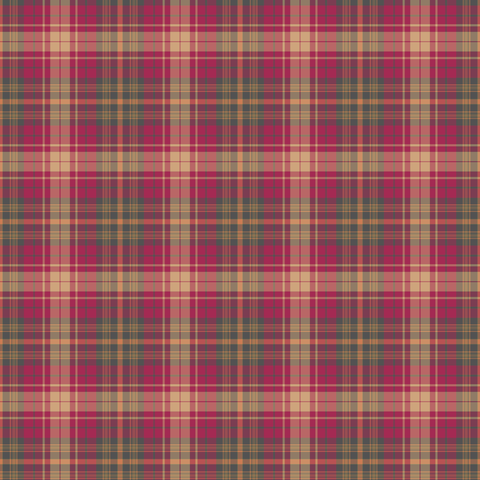 Pink and Beige Plaid Patterned Vinyl