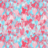 Pink and Blue Hearts Printed Vinyl