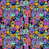 Purple Animals Patterned Craft Vinyl - Printed Adhesive Outdoor or Heat Transfer Vinyl