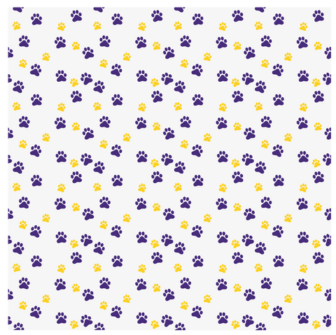 Purple and Gold Pawprints Louisiana Printed Craft Vinyl – Vinyl Printcess dd5765669