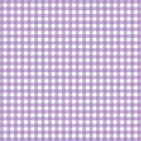 Lavender Gingham Plaid Patterned Craft Vinyl