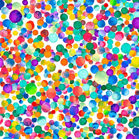Rainbow Bubbles Printed Craft Vinyl