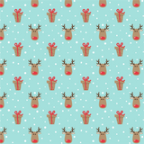 Red Nose Reindeer Printed Craft Vinyl