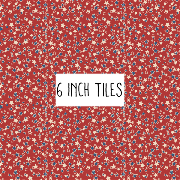 Red Patriotic Stars Patterned Vinyl - Craft Vinyl - Heat Transfer or Adhesive/Outdoor 651