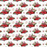 Red Trucks and Christmas Cookies Printed Craft Vinyl